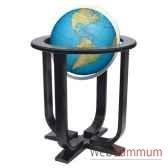 globe geographique colombus lumineux modele prestige sphere 40 cm meridien metaaluminium co2040501