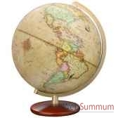 globe geographique colombus lumineux modele duplex antique sphere 30 cm co603052