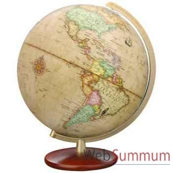 Globe géographique Colombus lumineux - modèle DUPLEX Antique - sphère 30 cm-CO603052