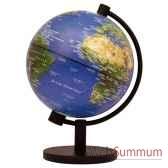 mini globe geographique stellanova lumineux modele classique sphere 13 cm illumine physique sl13iphysi