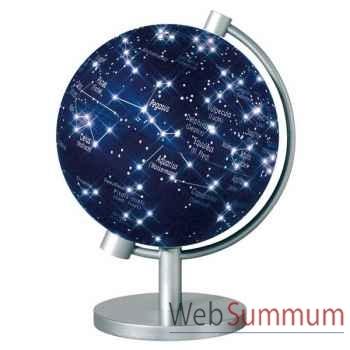 Mini-Globe géographique Stellanova lumineux- modèle en Français-Latin Sphère 13 illuminé étoiles-SL13IETOIL217746
