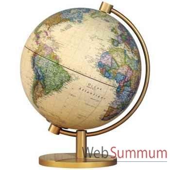 Globe géographique Stellanova - modèle Metallic Antique lumineux - sphère 28 cm -SL28IANTIQ
