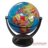 mini globe geographique stellanova non lumineux modele classique sphere 10 cm tournante basculante bleu slbleu
