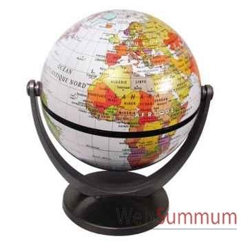 Mini-Globe géographique Stellanova non lumineux- modèle classique - sphère 10 cm tournante basculante blanc-SLBLANC