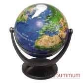 mini globe geographique stellanova non lumineux modele classique sphere 10 cm tournante basculante satellitte slsatellit