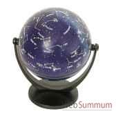 mini globe geographique stellanova non lumineux modele classique en latin sphere 10 cm tournante basculante etoiles sletoiles