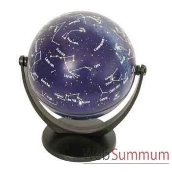 Mini-Globe géographique Stellanova non lumineux- modèle classique en Latin - sphère 10 cm tournante basculante étoiles-SLETOILES