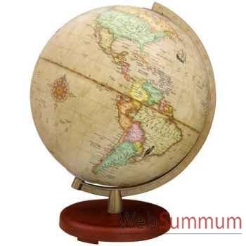 Globe géographique Terra lumineux - modèle Terra - sphère 30 cm Antique-TR603014