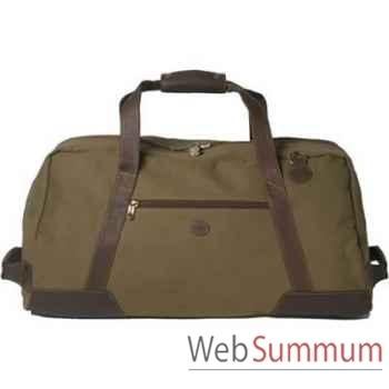 Baron-4008-02-Sac de transport en toile/cuir vert.