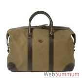 baron 4029 02 sac week end en toile cuir vert