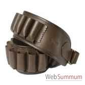 baron 4030 cartouchiere 20 tubes calibre 20 cuir brun