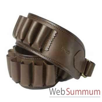 Baron-4030-Cartouchière 20 tubes calibre 20 cuir brun.