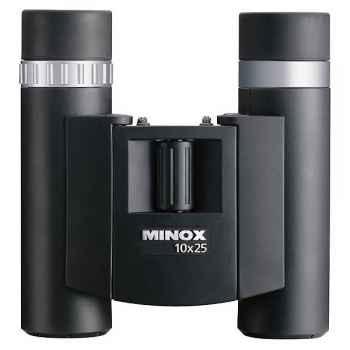 Minox-62116-Jumelle compacte BD 10x25 BR, positionnement optimal et rapide pour les porteurs de lunettes, poids 291 g.