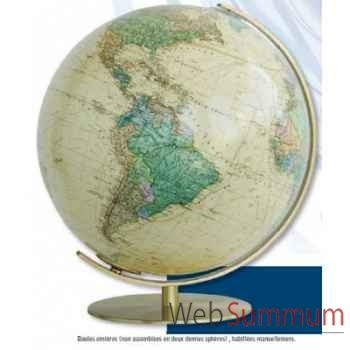 Globe lumineux colombus diam 34 antique royal co223471