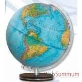 globe lumineux colombus diam 34 bleu co483458