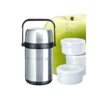 Isosteel-9566IS-Boite pour aliments isotherme 1,60 L en acier avec 3 compartiments.