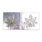 decoration murale aralia walplaque set aluminium bs4094alu