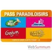 pass paradiloisirs parc asterix mer de sable musee grevin france miniature pass adulte annuel