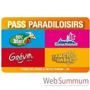 Pass Paradiloisirs - Parc Astérix-Musée Grévin-France Miniature-Mer de Sable-  Pass-famille annuel