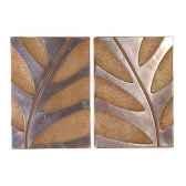 decoration murale foliage waldecor s 2 aluminium et rouille bs4133alu rst