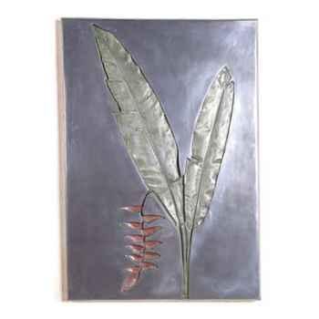 Décoration murale Hanging Heliconia Negative Wall Plaque, aluminium -bs2307alu
