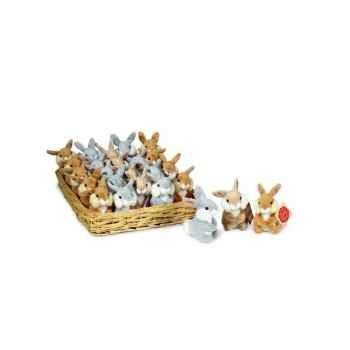 Lot de 25 peluche lapins 3 coloris 8 cm peluche hermann teddy collection 93807 1