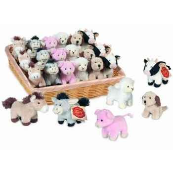 Lot de 24 animaux de la ferme, 6 modèles assortis 8 cm peluche hermann teddy collection 93307 6