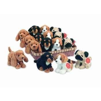Lot de 16 chiens 4 styles 12 cm peluche hermann teddy collection 92801 0