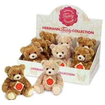 Lot de 3 ours teddies 2 couleurs assortie 20 cm peluche hermann teddy collection 91122 7
