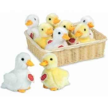 Lot de 9 bébé canards avec son 2 couleurs assortie 15 cm peluche hermann teddy collection 93117 1
