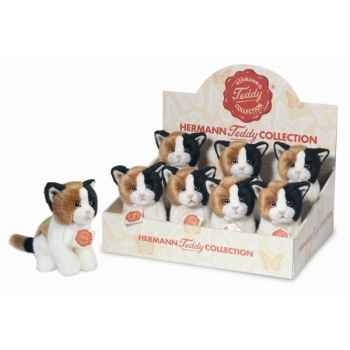 Lot de 8 chats assis 16 cm peluche hermann teddy collection 90609 4