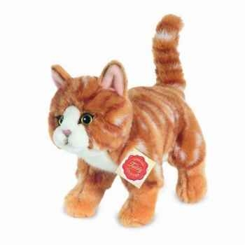 Peluche Chat debout tigré rouge Hermann Teddy collection 20cm 90682 7