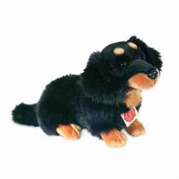 Peluche Chien teckel noir Hermann Teddy collection 28cm 92753 2