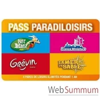Pass Paradiloisirs - Parc Astérix-Mer de Sable -Musée Grévin-France Miniature  - Pass-Enfant Annuel