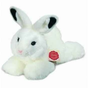 Peluche Lapin couché blanc Hermann Teddy collection 28cm 93754 8