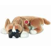 peluche chien boxer couche hermann teddy collection 43cm 92757 0