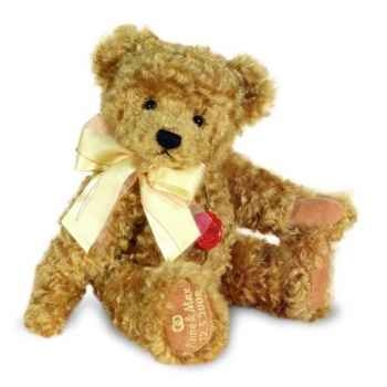 Peluche Congratulation Teddy gold musical brahms wiegenlied Hermann Teddy original 36cm 12027 8