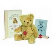 peluche ours hugo par henry n brown avec livre mohair hermann teddy origina28cm 15513 3