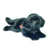 peluche chien terren neuve noir hermann teddy collection 60cm 92764 8