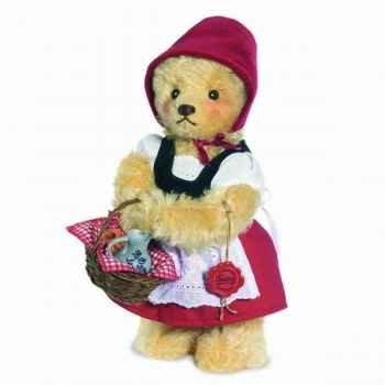 "Peluche Ours Teddy bear ""little red riding hood\"" Hermann Teddy original 26cm 11834 3"