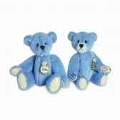 peluche ours teddy bleu hermann teddy originaminiature 55cm 15396 2