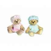 peluche teddy bebe bleu hermann teddy originaminiature 9cm 16236 0