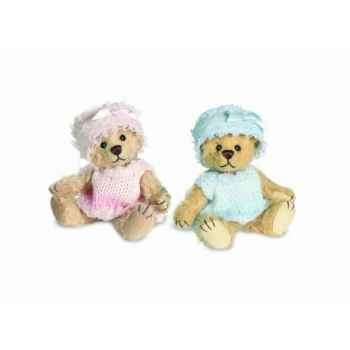 Peluche Teddy bébé bleu Hermann Teddy original miniature 9cm 16236 0