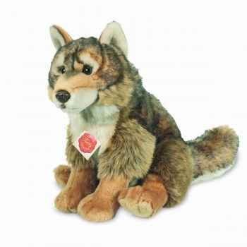 Peluche Loup assis Hermann Teddy collection 26cm 92759 4