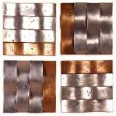 decoration murale onda walpaneset de 4 aluminium et bronze nouveau bs4138alu nb