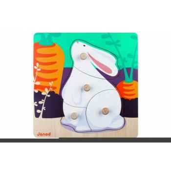 Puzzle lapin Janod J07003