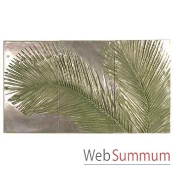 Décoration murale Palm Triptych, aluminium -bs4128alu