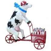 cow parade paris 2006 artiste martine diotalevi lait triporteur 46417