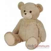 peluche ours beige classique z animoos 66 cm histoire d ours 2065