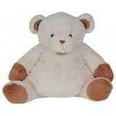 peluche ours chocolat blanc 55 cm histoire d ours 2089